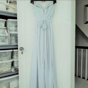 After Six Dresses - Powder blue chiffon gown